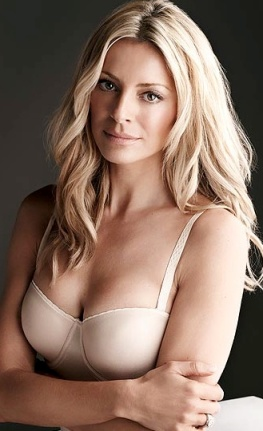 Tess Daly looking hot in nude bra