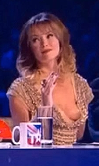 Amanda Holden wardrobe malfunction shows breast and nipple on BGT final