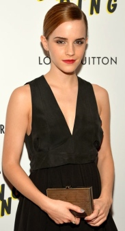 Emma Watson in black minidress at The Bling Ring premiere at The Paris Theatre