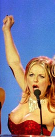 Geri Halliwell flashes breast and nipple during BRIT awards wardrobe malfuncton in 1997