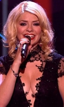 Holly Willoughby  - ultimate cleavage dress on The Voice final 2013