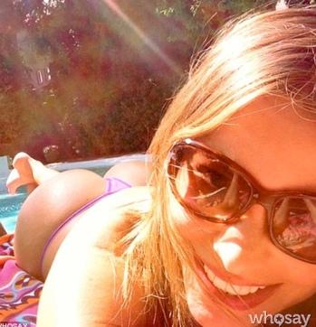 Sofia Vergara selfie photo of bum. WhoSay bum picture.