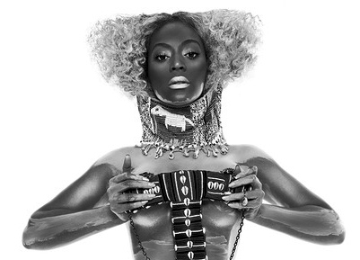 Beyonce holds breasts in nude Flaunt photo. Exposes nipple