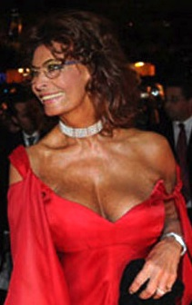 Sophia Loren - older but still great cleavage