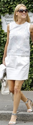 Tess Daly in little white 2-piece at Wimbledon