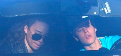 Ashley Moore and Justin Bieber