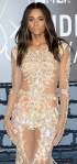 Ciara in sheer:nude dress with feathers and jewels at MTV VMA 2013
