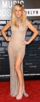 Ellie Goulding in Amato Couture gown split to thigh at MTV VMA 2013