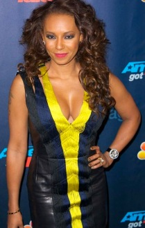 Mel B shows some serious cleavage in tight America's Got Talent dress