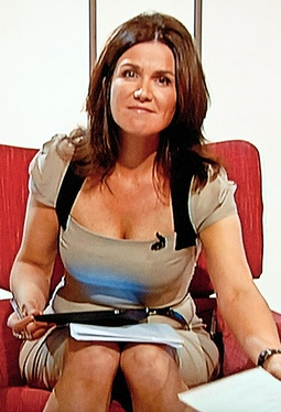 Sexy BBC news presenter Susanna Reid showing lots of cleavage