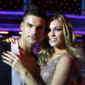 Abbey Clancy and Aljaž Skorjanec on Strictly Come Dancing