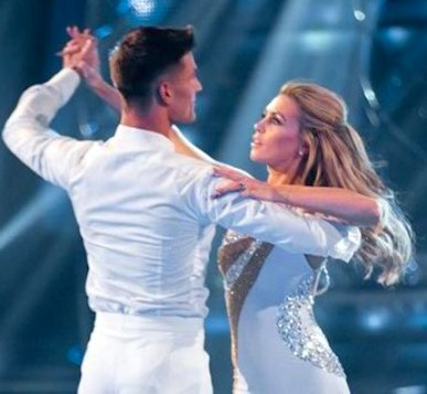 Abbey Crouch and Alijaz Skornajec with waltz from Strictly Come Dancing