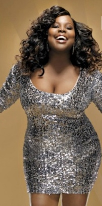 Amber Riley - big cleavage - Mercedes from Glee - DWTS