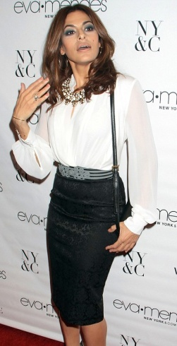 Eva Mendes - hot latino actress launches new fashion collection for New York and Company