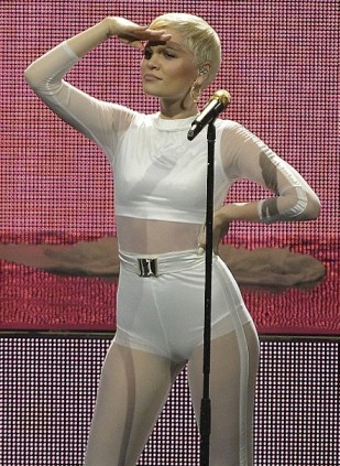 Jessie J in nude bodysuit at iTunes Festival 2013