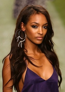 Jourdan Dunn nipples showing through silky Topshop top