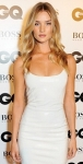 Rosie Huntington-Whiteley in white bodycon dress at GQ Awards 2013