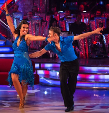 Susanna Reid and Kevin Clifton on Strictly Come Dancing Week 1