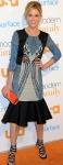 Julie Bowen in blue mermaid style dress at Modern Family Fan Appreciation Day