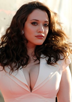 Kat Dennings very big boobs and cleavage