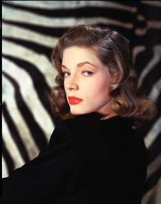 Lauren Bacall - early Kodachrome colour photo from 1946