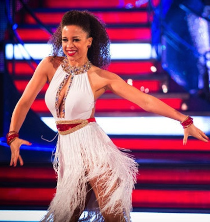 Natalie Gumede shows cleavage in cha-cha dress on Strictly 2013