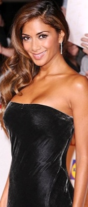 Nicole Scherzinger in sexy fitted black dress at Pride of Britain awards 2013