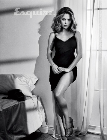 Scarlett Johansson - Sexiest Woman 2013 - Esquire b&w photo