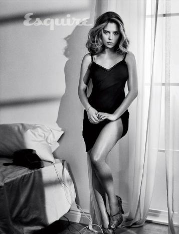 Scarlett Johansson - Sexiest Woman 2013 - Esquire b&w photo