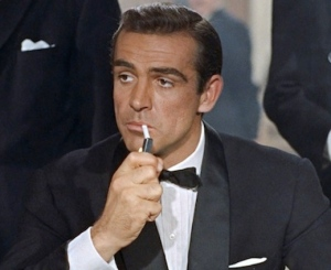 Sean Connery as James Bond in first Bond movie Dr No (1962)