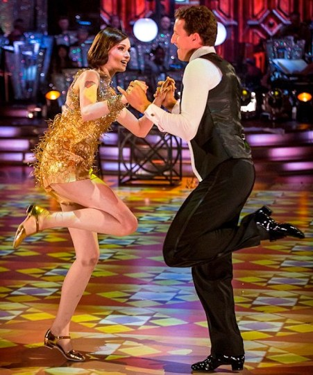 Sophie Ellis-Bextor and Brendan Cole score 36 points in Week 2 of Strictly for their Charleston
