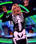 Zoe Ball - Halloween skeleton outfit on Strictly Takes Two 2013