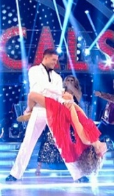 Abbey Clancy wraps her legs around Aljaz during disco maximum on Strictly Week 10