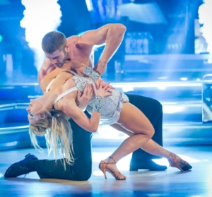 Ben Cohen with bare chest touches Kristina Rihanoff's boobs on Strictly
