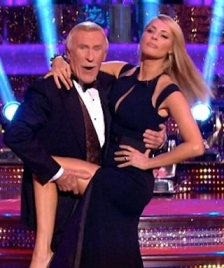 Bruce grabs Tess Daly's leg in Strictly's Blackpool week