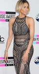Ciara rocks a black lace chainmail style see-thru outfit at 2013 AMAs