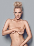 Helen Flanagan topless in 2014 calendar holding her boobs