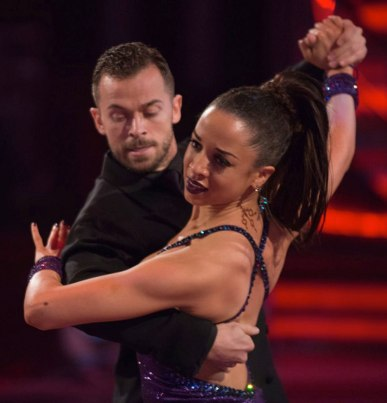 Natalie Gumede and Artem Chigvintsev dance the tango in Strictly Come Dancing November 2013