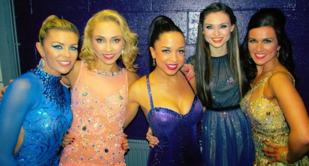 Natalie Gumede nipple wardrobe malfunction with Abbey Clancy, Susanna Reid, Sophie Ellis Bextor and Iveta Lukosiute