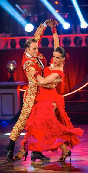 Susanna Reid and Kevin Clifton in traditional Paso Doble