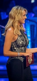 Tess Daly -  nice boobs in Strictly results show November 2013
