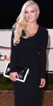 Helen Flanagan shows cleavage in black dress at Military Awards 2013