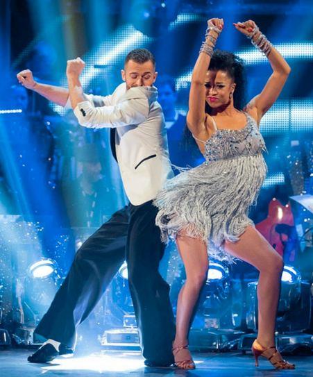 Natalie Gumede shakes her funky stuff wth Artem Chigvintsev in Strictly semi final