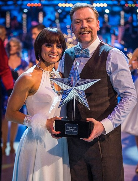 Rufus Hound and Flavia Cacace wn Strictly Come Dancing Christmas Special 2013