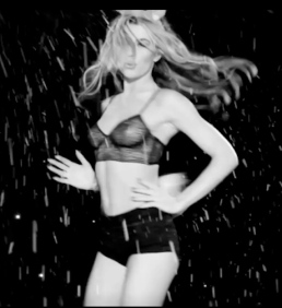 Strictly's Abbey Clancy in see-through bra for Love Magazine advent calendar