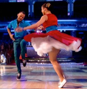 Swingathon winners Natalie Gumede and Artem Chigvintsev