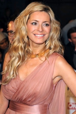 Tess Daly shows nipples through see-through pink dress