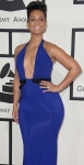 Alicia Keys shows cleavage