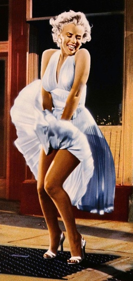Best Movie Outfit - Marilyn Monroe's white skirt blows up over subway grill in Seven Year Itch (1955)