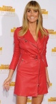 Heidi Klum looking hot in little red leather outfit at Sports Illustrated party